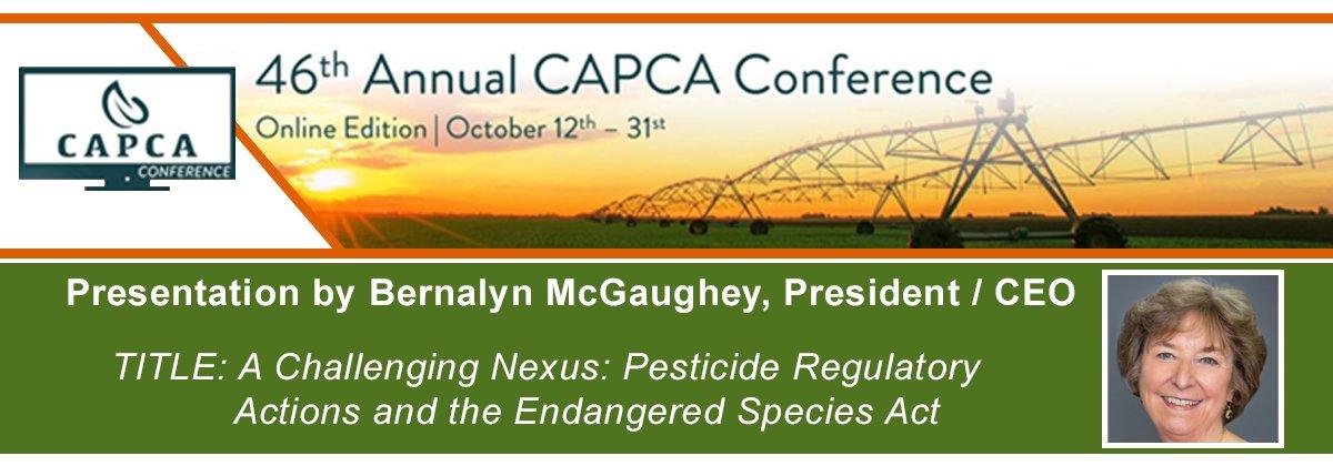 California Association of Pest Control Advisers (CAPCA) Conference - October 12-31, 2020