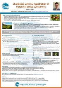 SETAC 2020 Poster Image Titled Challenges with EU registration of botanical active substances
