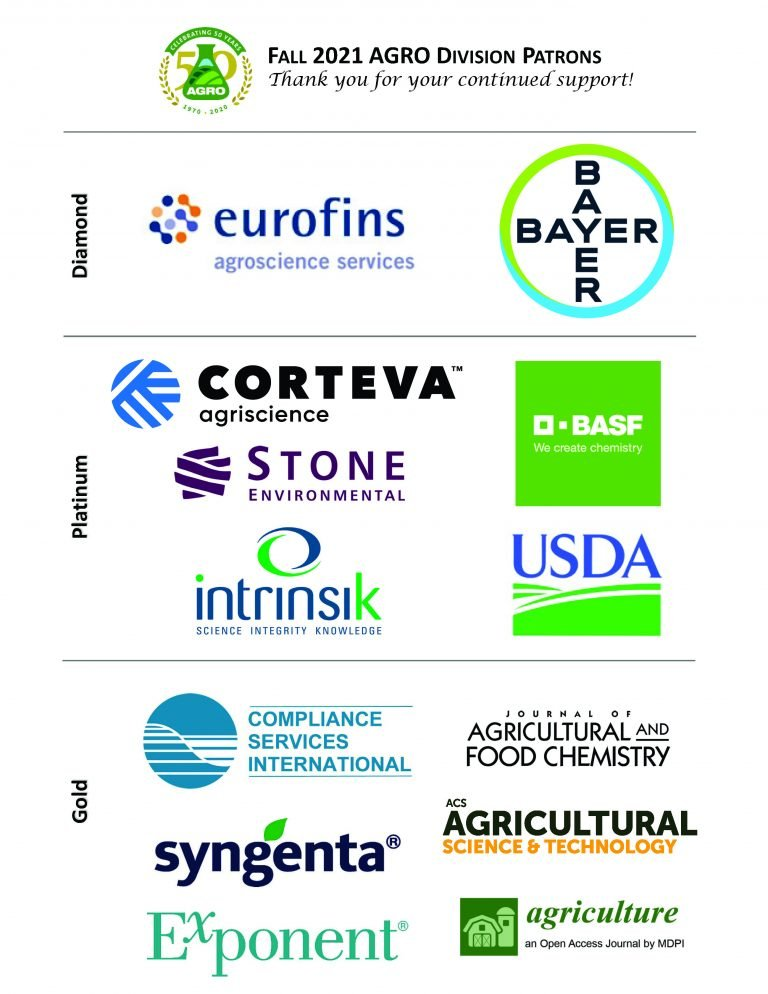 Fall 2021 AGRO Division Sponsorship Patrons