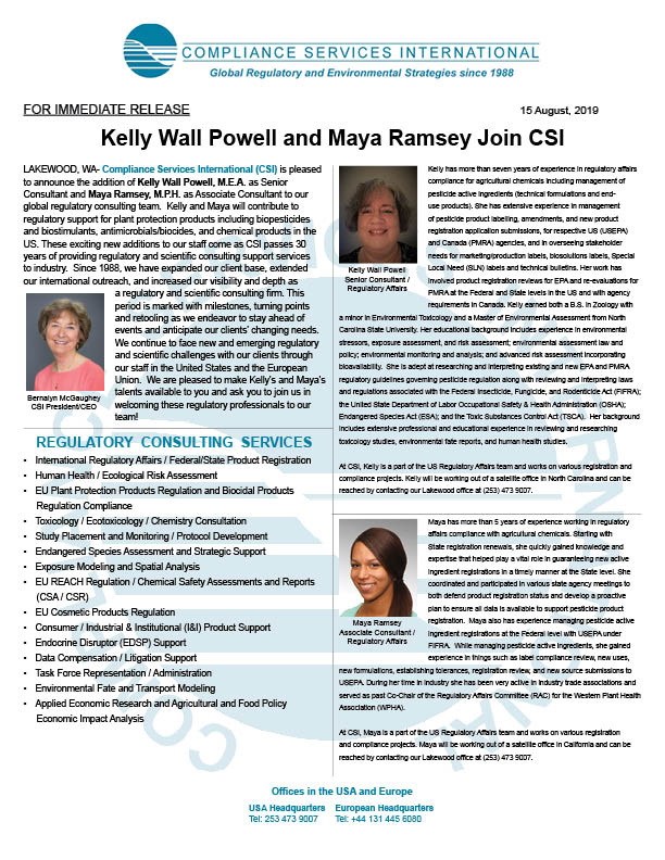 Press Release for Kelly Wall Powell and Maya Ramsey